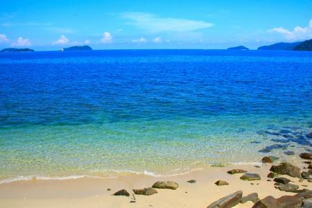 Seascape view at Sutera Harbour Beach, Kota Kinabalu, Sabah, Malaysia