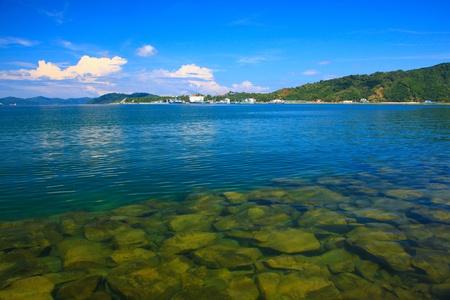 Panoramic view of Sabah Port with blue sky at Sepanggar, Kota Kinabalu, Sabah, Malaysia Stock Photo - 10336517