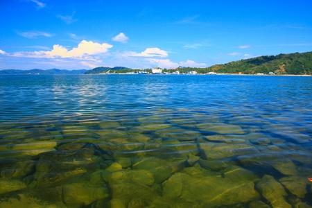 Panoramic view of Sabah Port with blue sky at Sepanggar, Kota Kinabalu, Sabah, Malaysia Stock Photo - 10336505