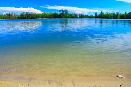 Beautiful landscape view at Serusup Beach, Tuaran, Sabah, Malaysia photo