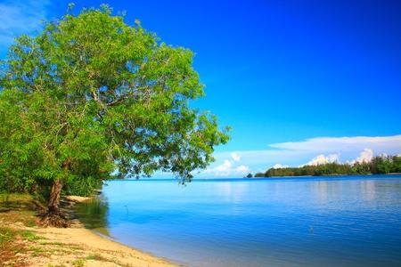 tuaran: Beautiful landscape view at Serusup Beach, Tuaran, Sabah, Malaysia