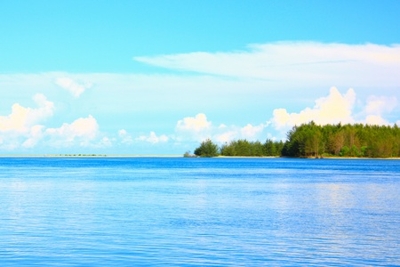 Beautiful landscape view at Serusup Beach, Tuaran, Sabah, Malaysia Stock Photo - 10529813