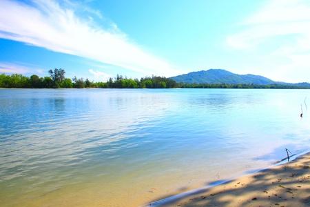 Beautiful landscape view at Serusup Beach, Tuaran, Sabah, Malaysia