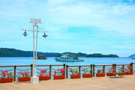 Beautiful view of Kota Kinabalu Waterfront, Sabah, Malaysia Stock Photo - 10689822