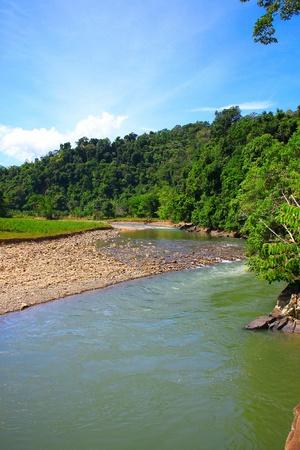 Beautiful landscape view at Kiulu, River, Tuaran, Sabah photo