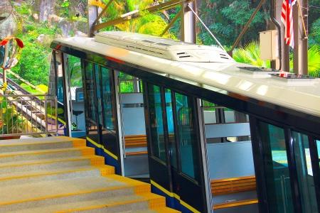 Cable car at Penang Hill, Penang, Malaysia