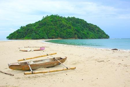 Morning view at Kelambu Beach, Kudat, Sabah, Malaysia photo