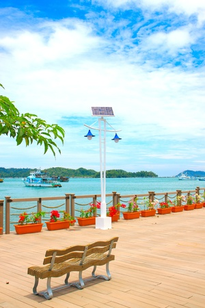 Beautiful view of Kota Kinabalu Waterfront, Sabah, Malaysia Stock Photo - 10905771