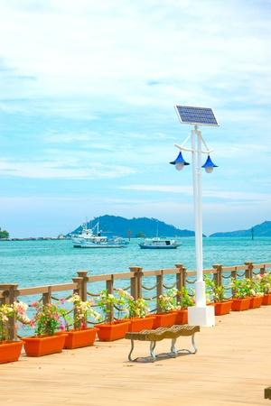 Beautiful view of Kota Kinabalu Waterfront, Sabah, Malaysia Stock Photo - 10905768
