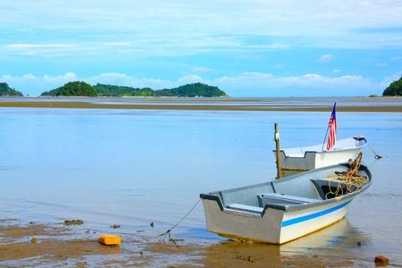 Beautiful landscape during morning time at Kinarut Beach, Kota Kinabalu, Sabah, Malaysia photo