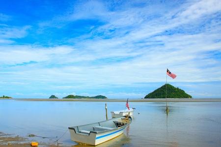 Beautiful landscape during morning time at Kinarut Beach, Kota Kinabalu, Sabah, Malaysia Stock Photo - 11097545