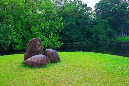 Panoramic view of public lake garden at Taiping, Perak, Malaysia Stock Photo - 11239067