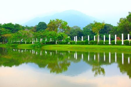 Panoramic view of public lake garden at Taiping, Perak, Malaysia Stock Photo - 11238751