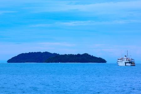 View of Sutera Harbour Beach, Kota Kinabalu, Sabah, Malaysia photo