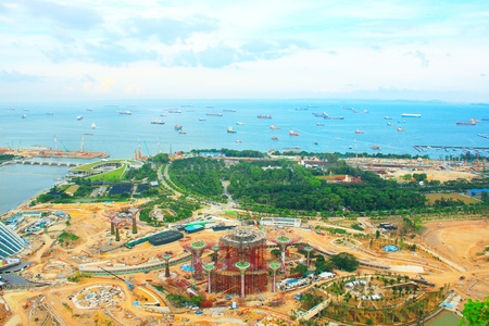 Cityscape view of Singapore Stock Photo