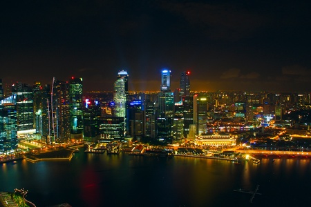 Night view in Singapore Stock Photo - 12151858