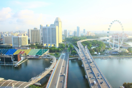 riverside landscape: Cityscape view of Singapore Stock Photo