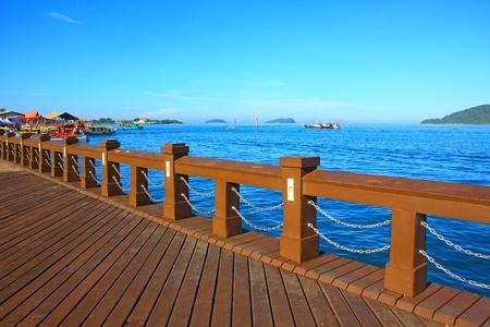 Beautiful landscape during morning time at Likas Beach, Kota Kinabalu, Sabah, Malaysia Stock Photo - 13340735