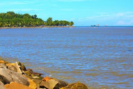 Beautiful landscape during morning time at Likas Beach, Kota Kinabalu, Sabah, Malaysia Stock Photo - 13319470
