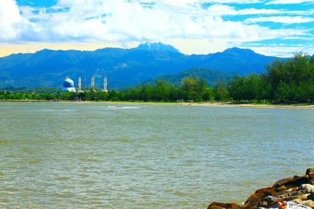 Beautiful landscape during morning time at Likas Beach, Kota Kinabalu, Sabah, Malaysia Stock Photo - 13319459