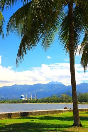 Beautiful landscape during morning time at Likas Beach, Kota Kinabalu, Sabah, Malaysia Stock Photo - 13319457