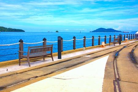 Relaxing at Jesselton Point, Kota Kinabalu Sabah, Malaysia Stock Photo - 13319183
