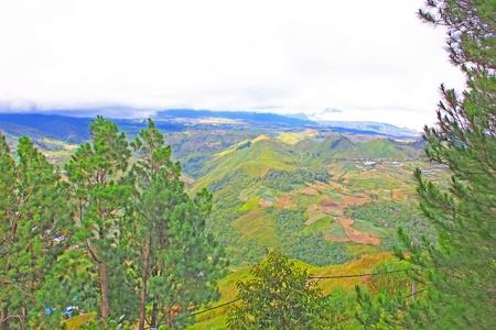 Panoramic view of beautiful landscape from the top at Kundasang, Sabah, Malaysia Stock Photo - 13368479