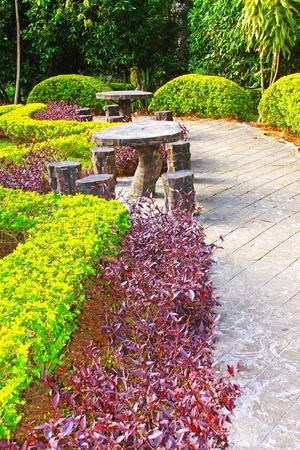 Landscape view of public garden at Kundasang Ranau, Sabah, Malaysia Stock Photo - 13368490