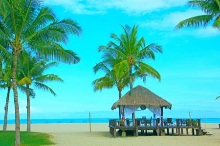 tuaran: Massage hut facing sea view at Dalit Beach, Tuaran Sabah, Malaysia