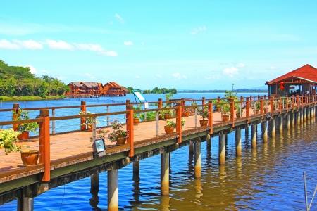 merah: Beautiful landscape of man made lake at Bukit Merah, Perak, Malaysia