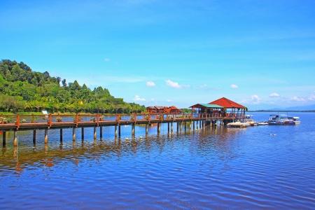 Beautiful landscape of man made lake at Bukit Merah, Perak, Malaysia