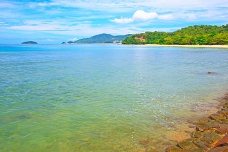 Beautiful landscape of Borneo Tropical Beach, Sabah, Malaysia Stock Photo - 13431899