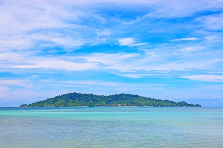 Beautiful landscape of Borneo Tropical Beach, Sabah, Malaysia photo