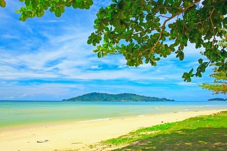 Beautiful landscape of Borneo Tropical Beach, Sabah, Malaysia