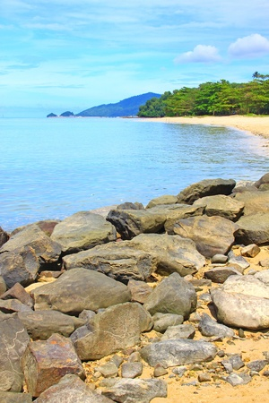 Beautiful landscape of Borneo Tropical Beach, Sabah, Malaysia photo