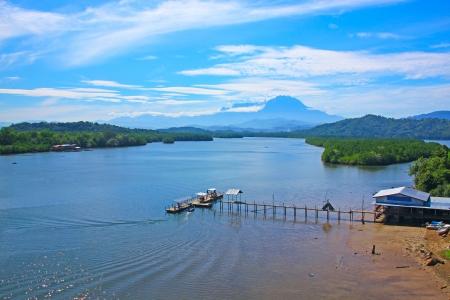 Panoramic view of Salut River at Tuaran Sabah, Malaysia photo