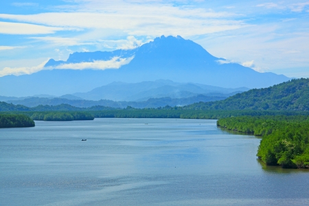 tuaran: Panoramic view of Salut River at Tuaran Sabah, Malaysia