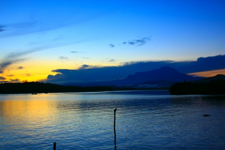 Sunrise at Salut River Tuaran Stock Photo - 13629563