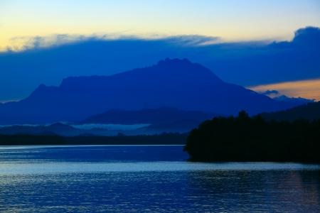 Sunrise at Salut River Tuaran Stock Photo