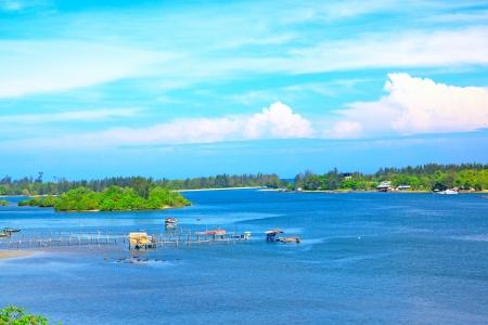 Panoramic view Salut River at Tuaran Sabah, Malaysia photo
