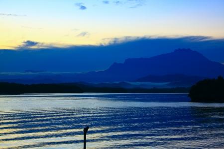 tuaran: Sunrise at Salut River Tuaran Stock Photo