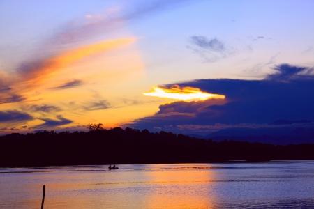 tuaran: Sunrise view at Salut River, Tuaran Sabah, Malaysia