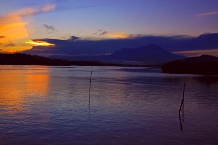 Stunning sunrise at Salut River, Tuaran Sabah, Malaysia Stock Photo - 13699414