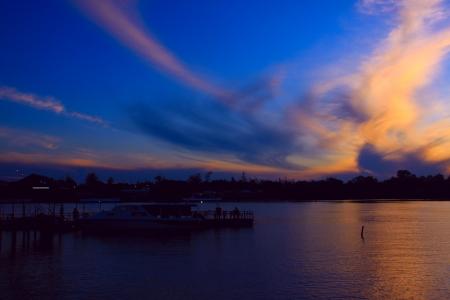 Stunning sunrise at Salut River, Tuaran Sabah, Malaysia