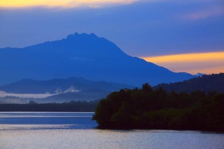 tuaran: Stunning sunrise at Salut River, Tuaran Sabah, Malaysia