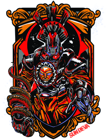 kingdom of god: Sun Deva Illustration