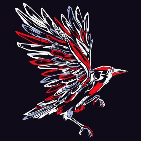 Bird pop Art Illustration