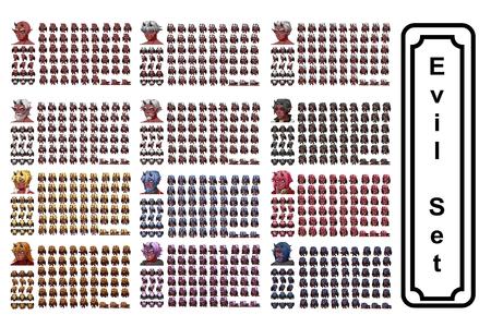 Evil Set Character Stock fotó - 85777184