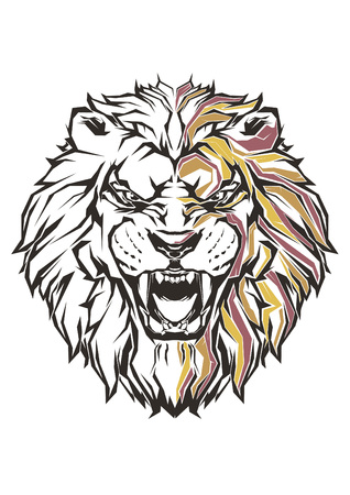 Pop Art of Lion Vektorové ilustrace