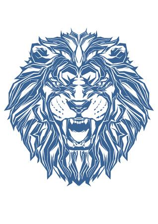 Pop Art of Lion Vettoriali